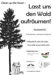 Aufruf zum Wald aufräumen