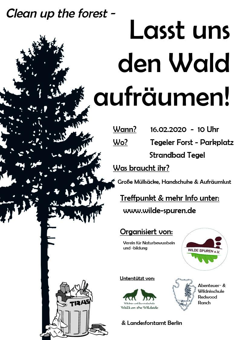 Müllaufräumen clean up the forest